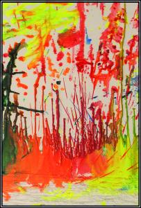 «Colour Chaos»av Siri Strøm Reitan.